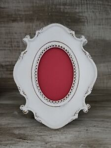 Gorgeous Shabby Chic Classic Chunky Distressed White Table Picture Frame Photo