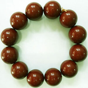 Elastic-Light-Brown-Bead-Bracelet-Wristband-Bangle-Womens-Ladies-Girls-Jewellery