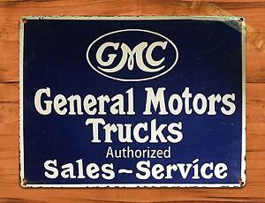 Tin Sign Vintage GMC