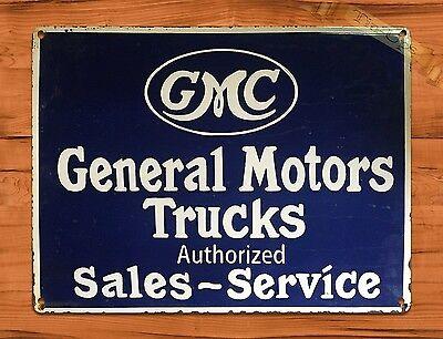 GM General Motors GMC Chevy Dealer Service Parts Retro Decor Large Metal Sign