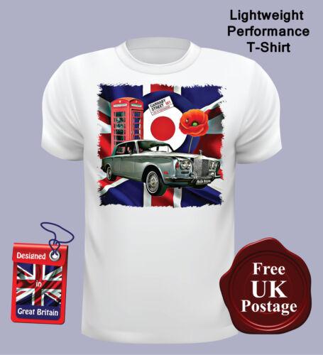 Target, Rolls Royce Rolls Royce Silver Shadow Homme T shirt Mod Union Jack