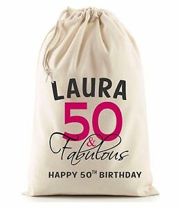 Image Is Loading PERSONALISED 30th 40th 50th 60th BIRTHDAY GIFT BAG