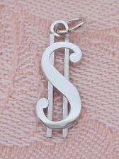 Rembrandt DOLLAR SIGN $ ~ SYMBOL OF MONEY Sterling Silver Charm Or Pendant