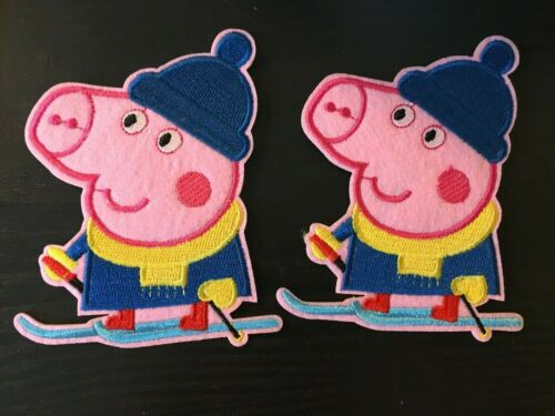 Peppa Pig Patch embroidery  SEW//IRON on 4/""