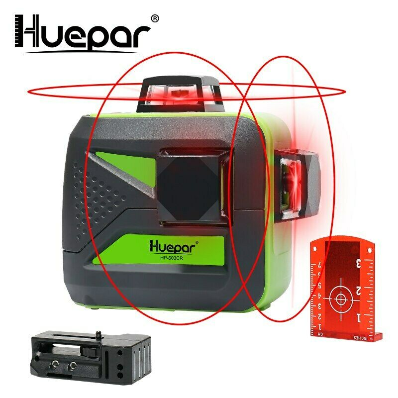 Huepar 12 linee 3D Cross Laser Level autolivellante 360 ​​orizzontale e Grünical