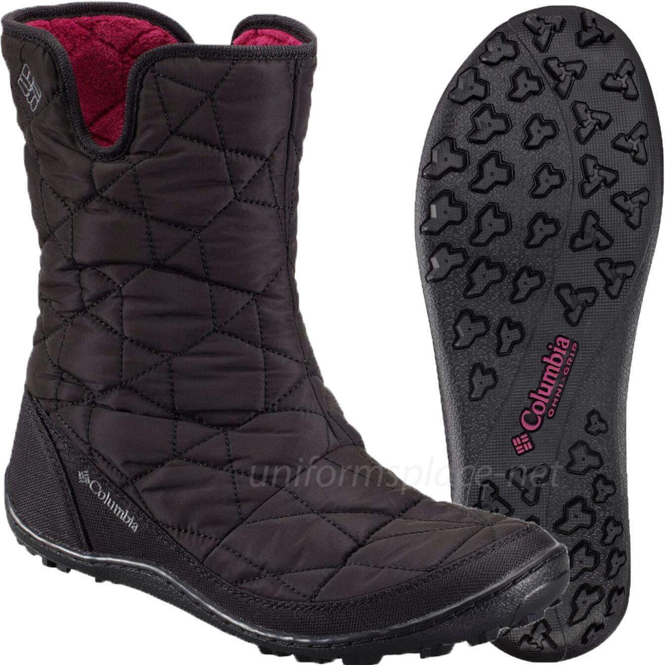 Columbia II Stiefel Damenschuhe Minx Slip II Columbia Omni-Heat Pull-on Waterproof Boot Insulation 3735d2