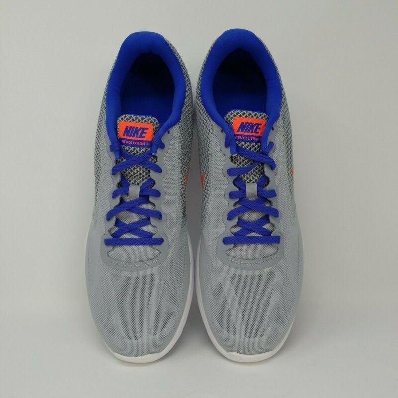 Nike Revolution 3 Athletic Shoe Grey/blue/orange Men's Size 13