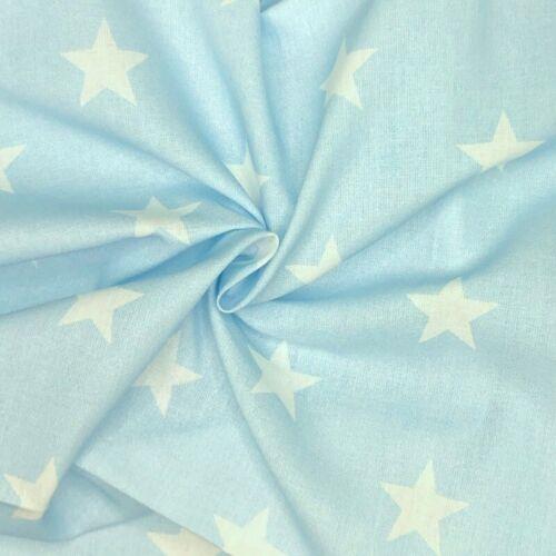 100/% Cotton Fabric Large Stars Star 140cm Wide Crafty