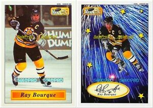 2x-IMPERIAL-1995-RAY-BOURQUE-BOSTON-BRUINS-6-6-25-RARE-SCRIPT-AUTOGRAPH-LOT