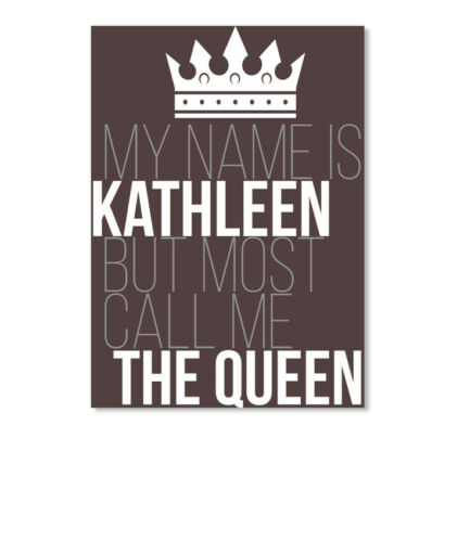 Sticker Details about  /One-of-a-kind Kathleen Most Call Me The Queen Sticker Portrait