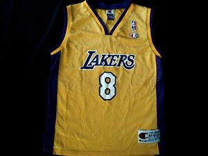 feed0d89779d Image is loading Kobe-Bryant-Champion-NBA-Lakers-Jersey-Size-Youth-