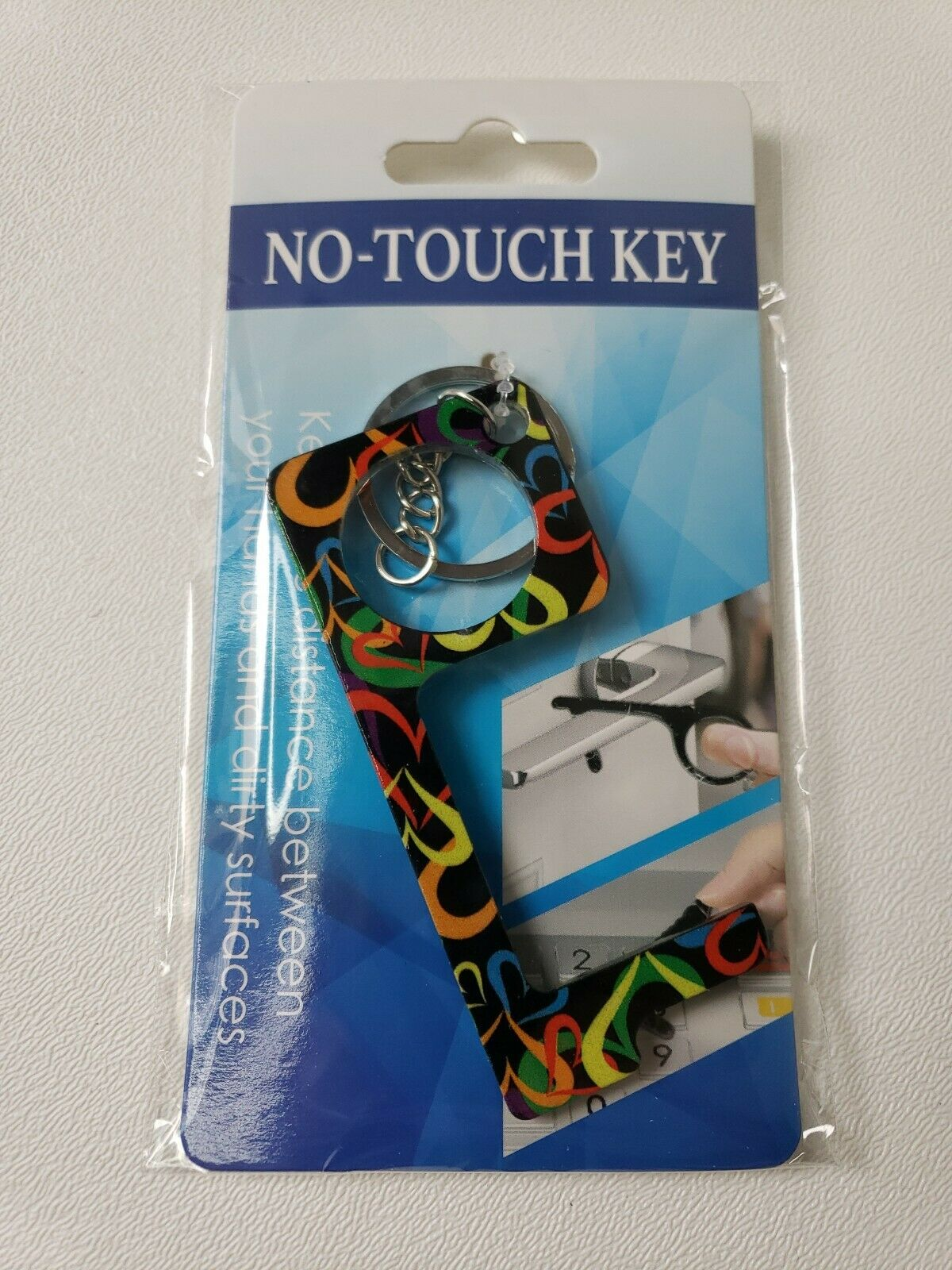 ❤ EASY No Touch Virus Prevention Personal Door Opener Button Pusher Key Chain!