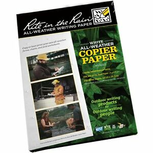 20-x-Sheets-NEW-Rite-in-the-Rain-RITR-All-Weather-Laser-Copier-A4-Sheets