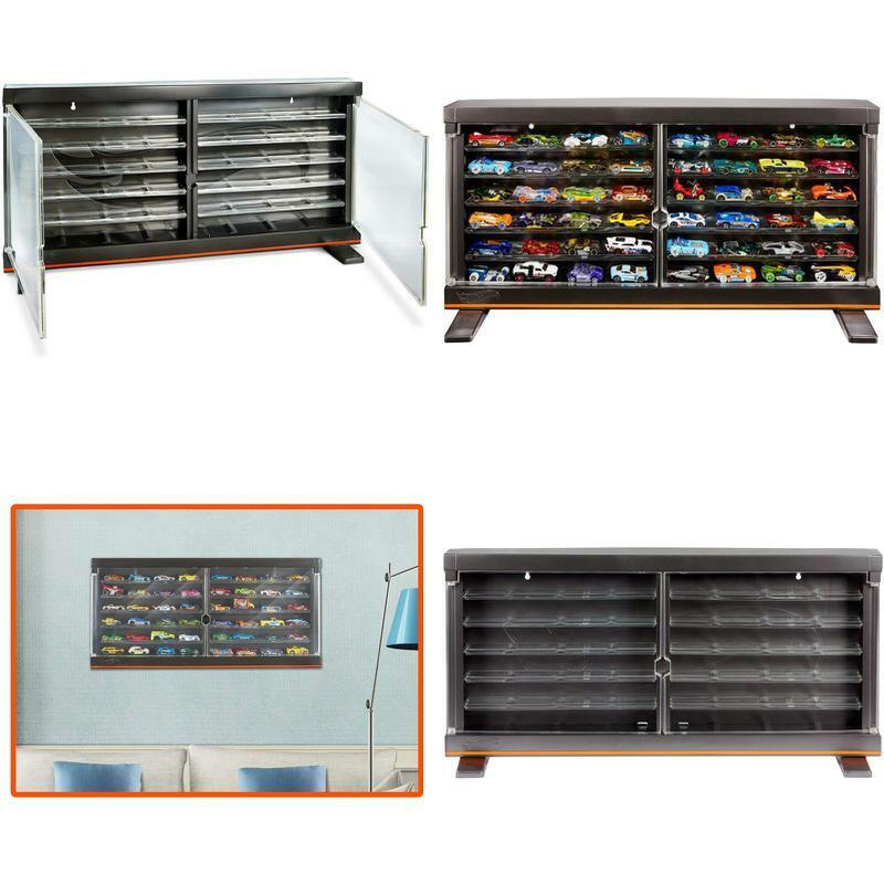 Authentic Hot DieCast Vehicles Wheels Display Case Wall Mounted Stand Alone