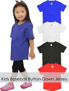 Kids-Youth-BASEBALL-JERSEY-Plain-T-Shirt-Team-Uniform-Sports-Raglan-Tee-Casual