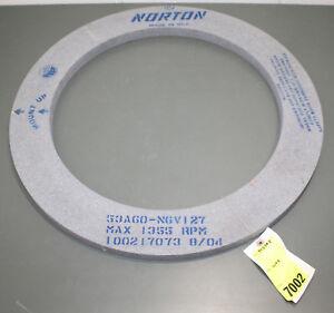 Norton-Grinding-Wheel-53A60-N6V127-24-034-x-1-034-18-034-Arbor-1355-RPM-60-Grit