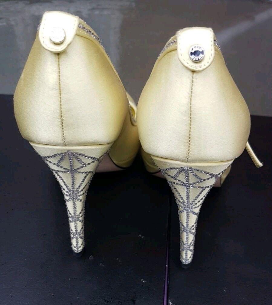 Karen Millen Crystal Encrusted shoes Heels Party Wedding Size 4 37