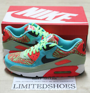 buy online 9b3c0 b716a Image is loading NIKE-AIR-MAX-90-ANNIVERSARY-FLASH-LIME-BLACK-