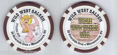 Nevada  Brothel Collectors Chip Winnemucca WILD WEST SALOON