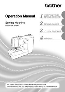 Details About Brother Xr3140 Sewing Machine Owners Instruction Manual Reprint