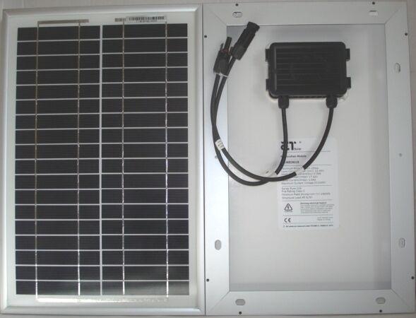 ET Solar 15w 12v Monocrystalline Panel with MC4 Connectors & 4mm Solar cable