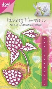Joy crafts fantasy flowers die cut embossing 4 dies 3d for Joy craft flower dies