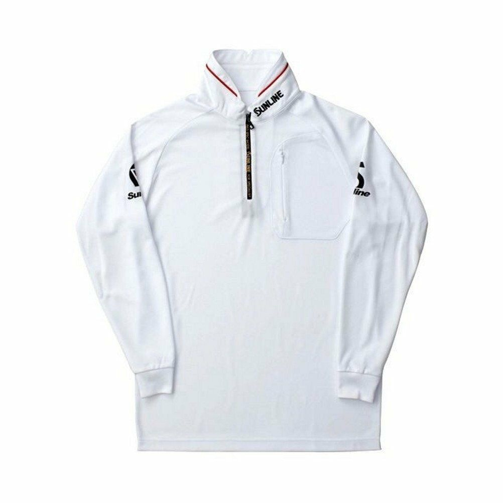 SUNLINE DRY Zip up shirt (Long sleeve) White 3L SCW-5527CW