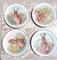 Pottery Barn Meadow Bunny Dessert/salad Plates Set Of 4 5 Available
