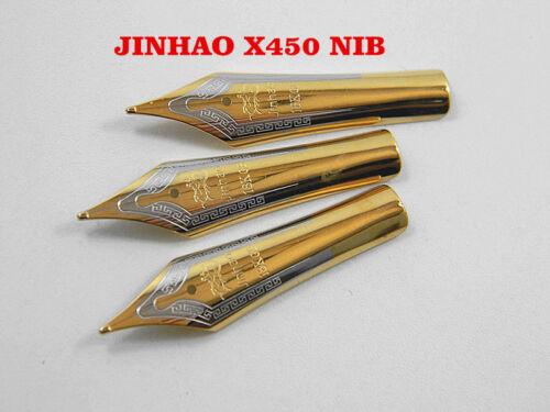 3PCS JINHAO X450 Golden Medium Nib fountain pen DIY LOT pen