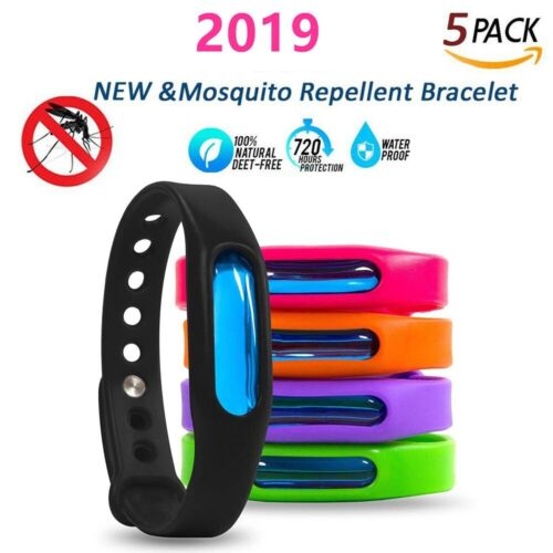 5pcs Anti Mosquito Pest Insect Bug Repeller Repellent Bracelet Wrist Band Summer