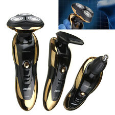 Electric Men's Rechargeable Cordless Rotary 3D Shaver Hair Nose Trimmer Razor