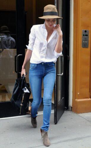 H/&M NUOVI SKINNY Blu Jeans Stretch In 5 Lunghezze di Gamba