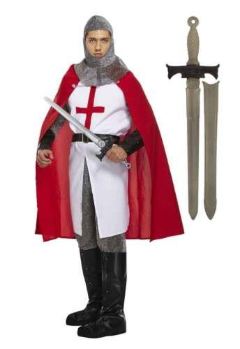 Men/'s Costume Medievale Deluxe Costume da Cavaliere St George England Rugby SPADA