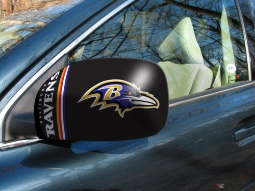 Licensed NFL Baltimore Ravens Car Mirror Covers 2-Pack Cars//Small SUV/'s