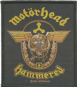 MOTORHEAD-hammered-2010-WOVEN-SEW-ON-PATCH-official-no-longer-made-LEMMY