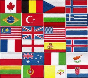 NATIONAL-COUNTRY-EMBROIDERED-FLAG-SEW-IRON-ON-PATCH-CHOOSE-YOUR-COUNTRY