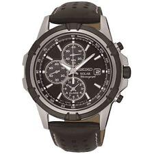Seiko Solar Powered Chronograph Alarm Mens Watch SSC147P2