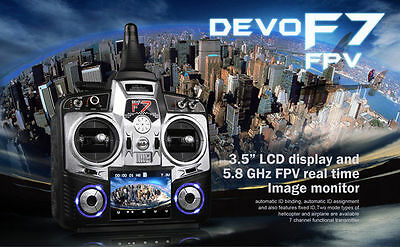 Walkera DEVO F7 FPV 7-Ch 2.4Ghz TX 5.8Ghz RX Telemetry Function Radio System