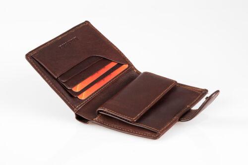 Tony Perotti Monterosso monedero en marrón auténtico cuero italiano
