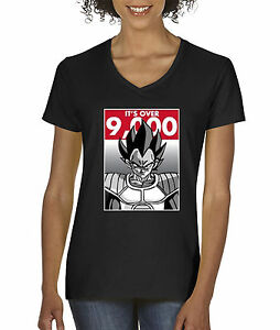 166e214b207e7 New Way 350 - Women s V-Neck T-Shirt It s Over 9000 Vegeta Goku ...