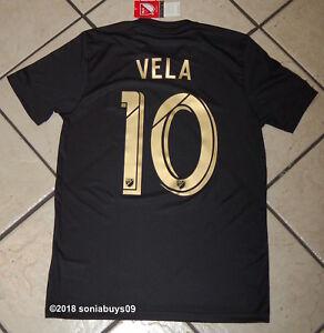 033b91e3602 Adidas Men's VELA MLS LAFC Away Soccer Jersey, CE3286, Black/Gold ...