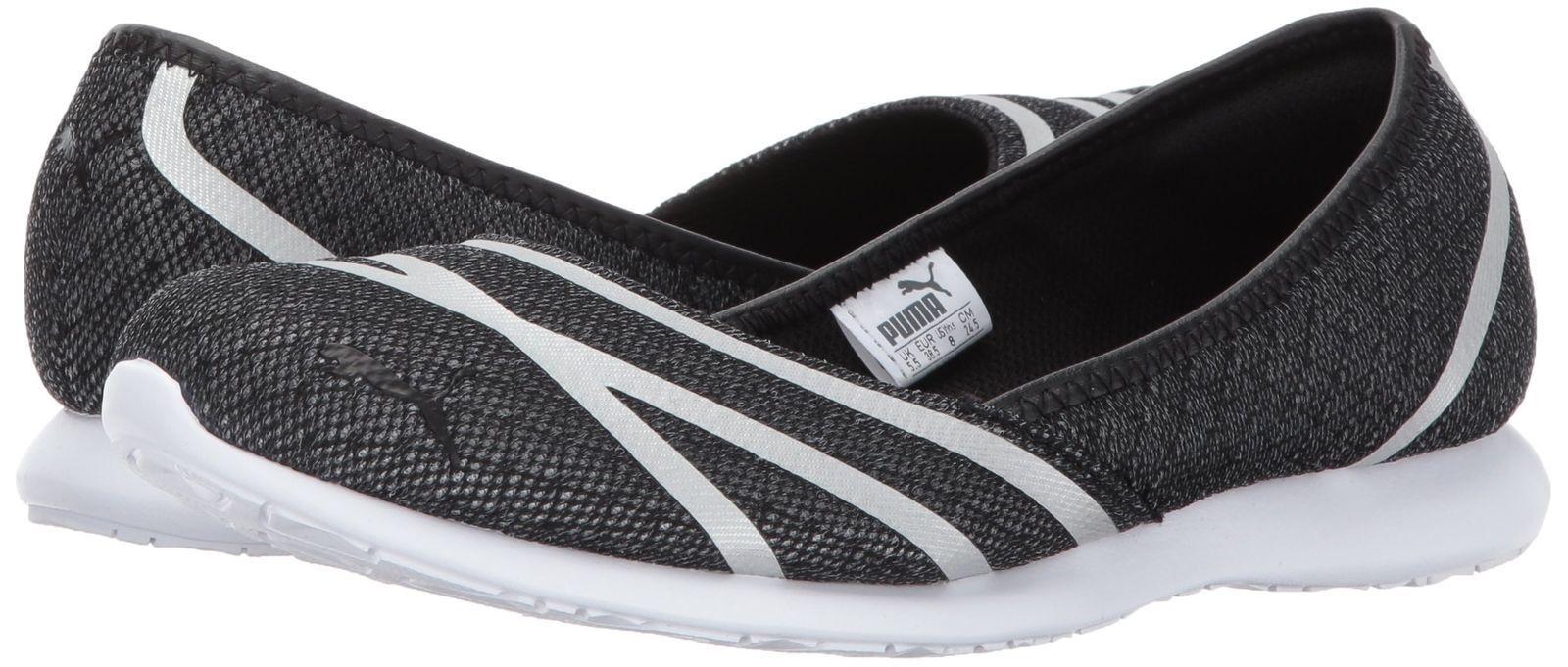 Neuer Frauen Vega Netz Ballerinas Schuhe Schwarz Weiß Damänner 363684-01 Zum