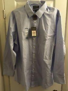fc77260f7a4 DENVER HAYES MODERN FIT NEVER IRON BLUE DRESS SHIRT 2XL 410015436464 ...