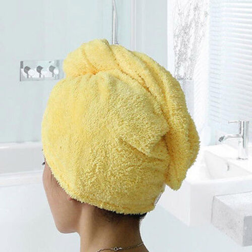 Turban Twist Dry Shower Microfiber Hair Wrap Towel Drying Bath Spa Head Cap Hat