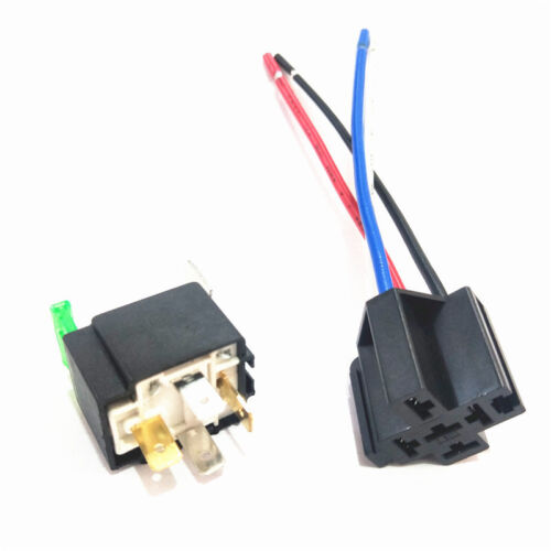 12V Car Automotive On//Off Fused Relay 30A 4-Pin with Holder Socket #E4 UK