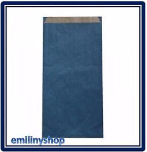 lot-50-pochettes-cadeau-papier-enveloppe-kraft-bijoux-12x4x21-bleu-neuf