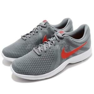 c5778571cf553 Nike Revolution 4 IV Grey Red White Men Running Shoes Sneakers ...