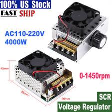 4000w Ac 110 220v Scr Motor Speed Controller Voltage Regulator Dimmer Thermostat