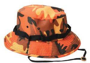 bd5b12139782a Image is loading Orange-Camo-Booniehat-Camouflage-Sun-Jungle-Boonie-Hat-