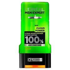 ** 2 X L 'Oreal Men Expert energía limpia cítricos Madera Gel de Ducha 300ML NUEVO ** Cuerpo